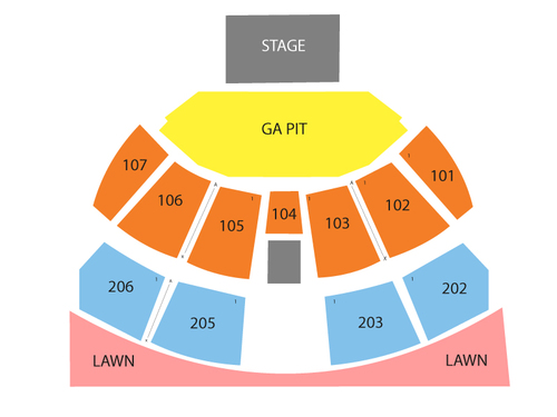 Austin360 Amphitheater Seating Chart Amp Events In Austin Tx