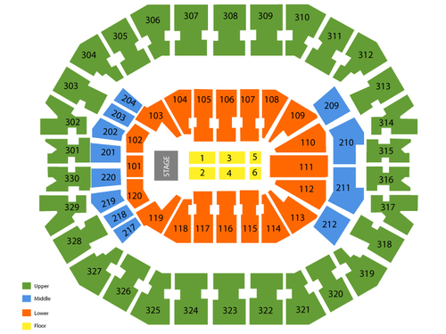Kfc yum center seating chart also  events in louisville ky rh goldcoasttickets