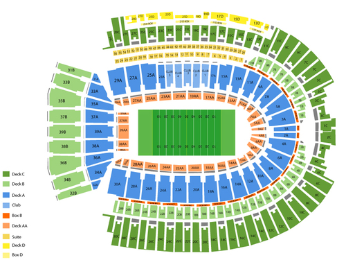 Indiana hoosiers at ohio state buckeyes football venue map also rh seat