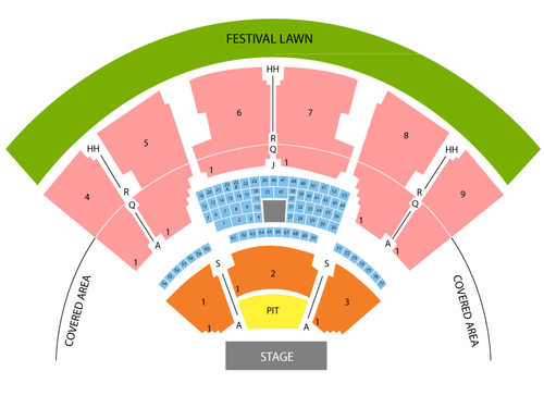 Bob seger also coastal credit union music park at walnut creek seating chart rh goldcoasttickets