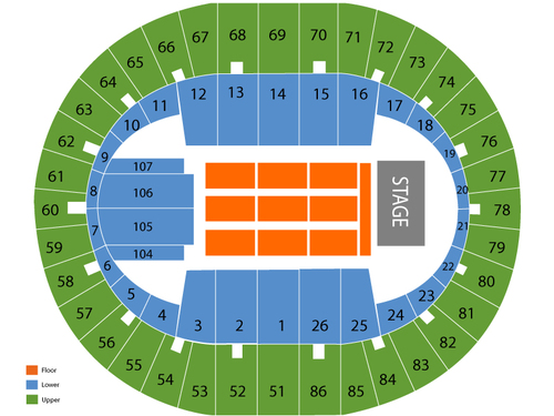 Veterans memorial coliseum portland seating chart also  events in rh goldcoasttickets