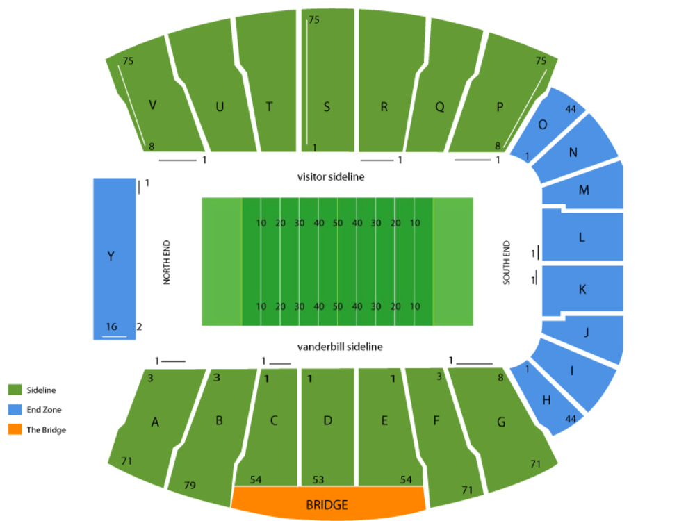 Vanderbilt stadium seating chart also cheap tickets asap rh cheapticketsasap