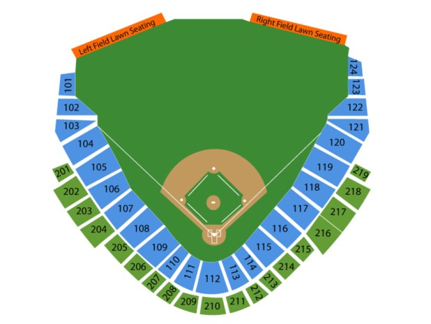 Ripken Stadium Seating Chart