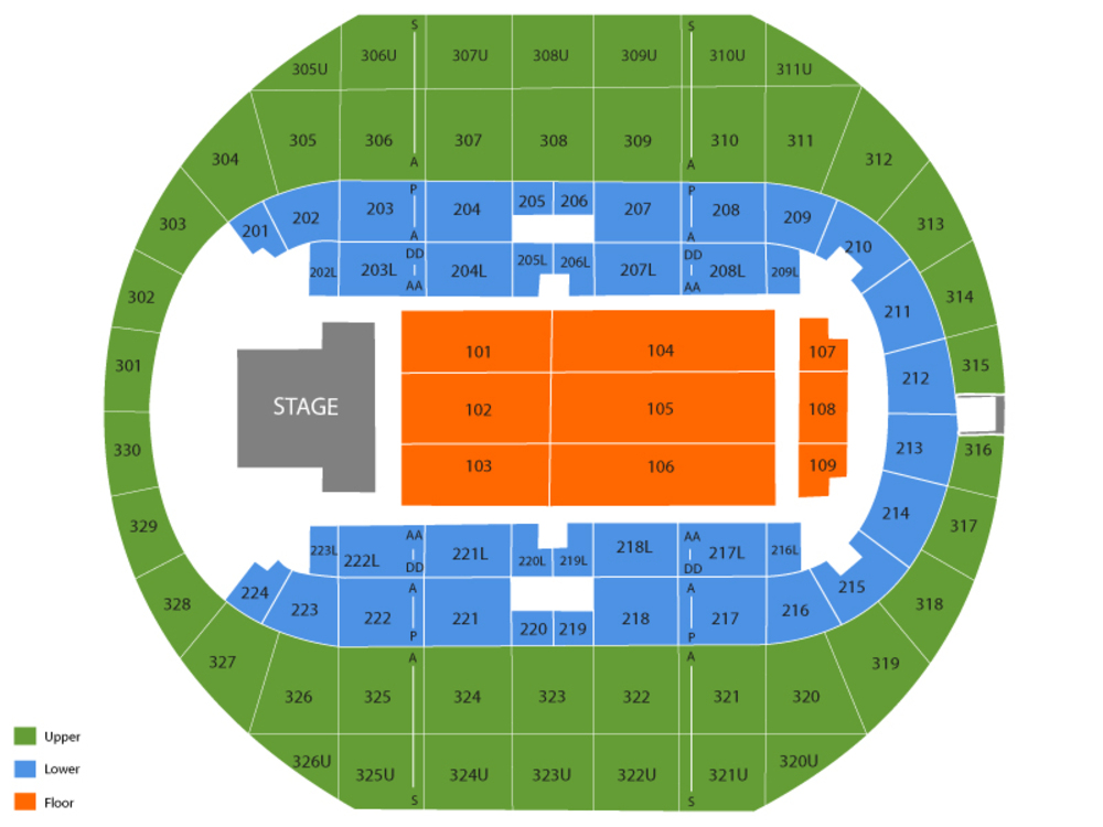 Von braun center arena seating chart also and tickets rh teamonetickets