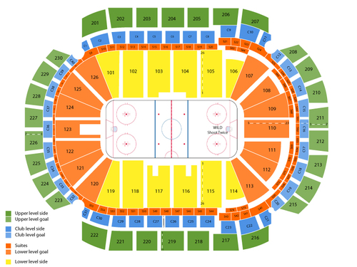 Xcel energy center seating chart also  events in st paul mn rh goldcoasttickets