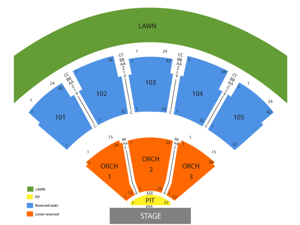 Verizon wireless amphitheatre at encore park seating chart also and tickets rh teamonetickets