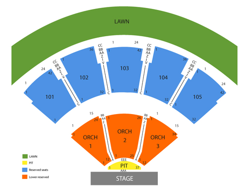 Verizon wireless amphitheatre at encore park seating chart also  events rh goldcoasttickets