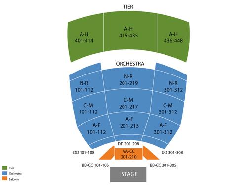 James  polk theatre seating chart also  events in nashville tn rh goldcoasttickets