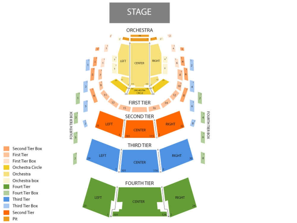 Ziff ballet opera house adrienne arsht pac seating chart also school of rock the musical at rh teamonetickets