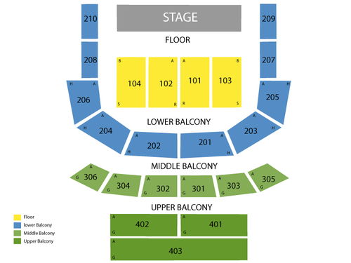 The tabernacle seating chart also  events in atlanta ga rh goldcoasttickets