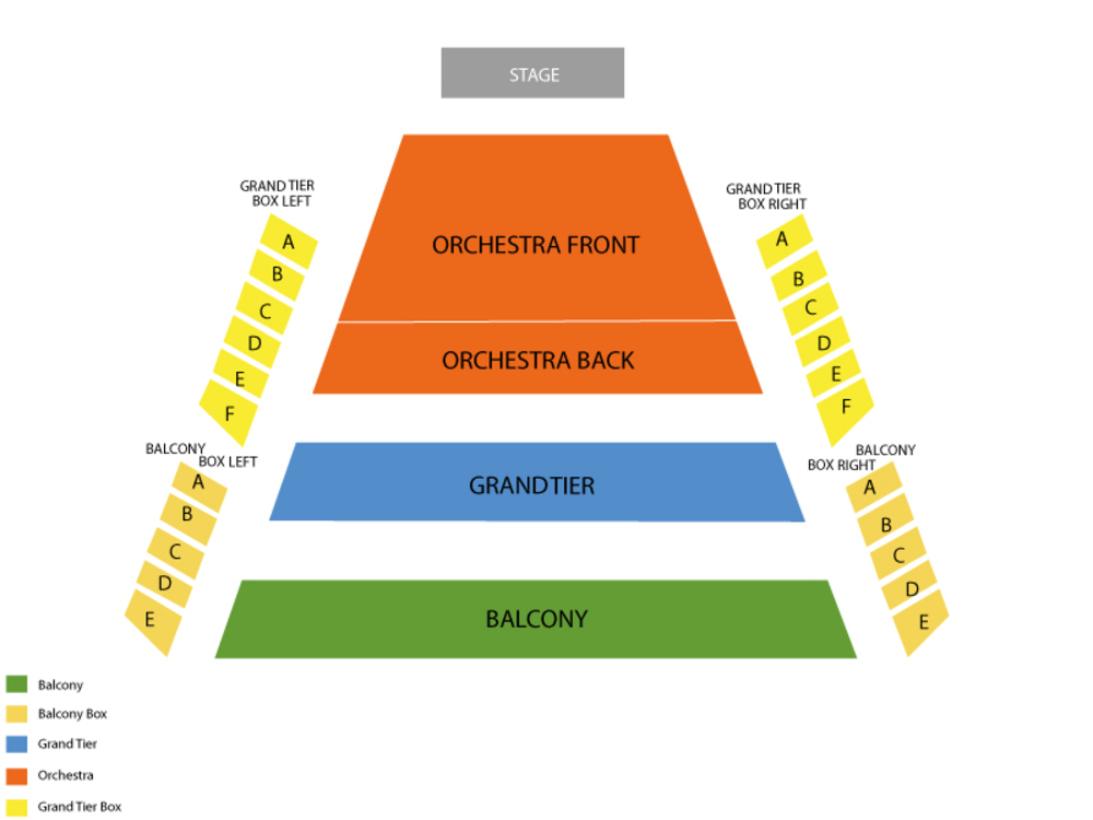 Kentucky center whitney hall seating chart also the nutcracker at louisville ky rh teamonetickets