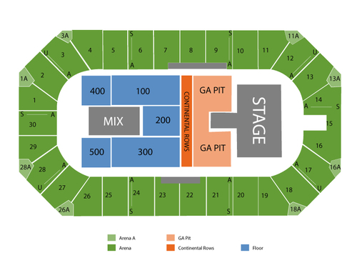 Wings event center seating chart also  events in kalamazoo mi rh goldcoasttickets