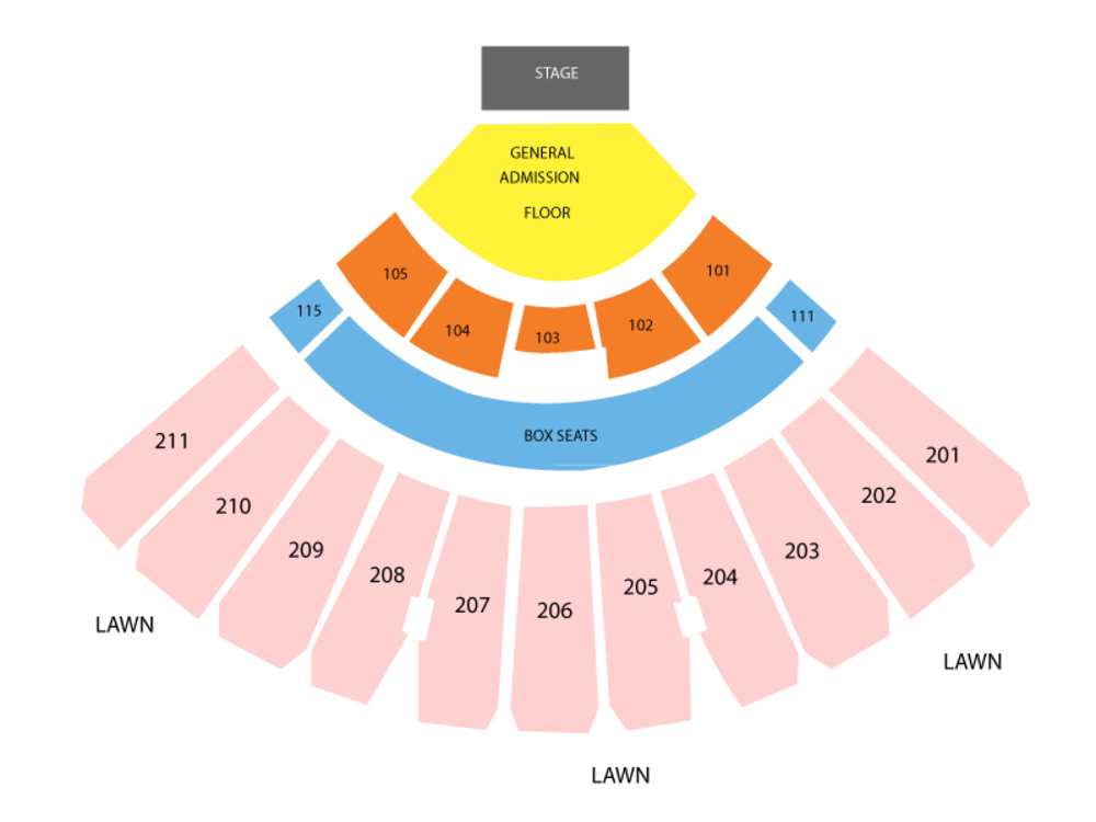 White river amphitheatre seating chart also and tickets rh teamonetickets