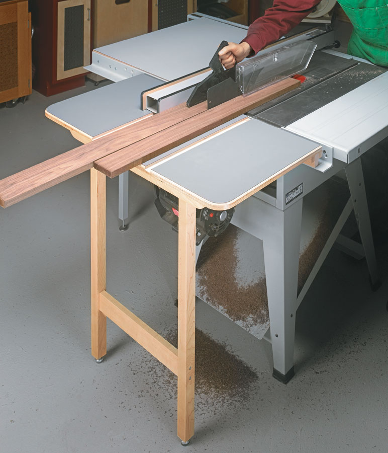Table Saw Outfeed Table Folding