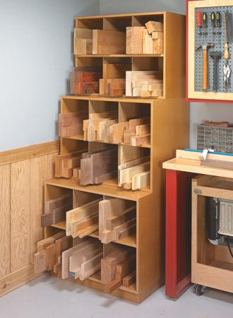 lumber storage plans woodsmith plans
