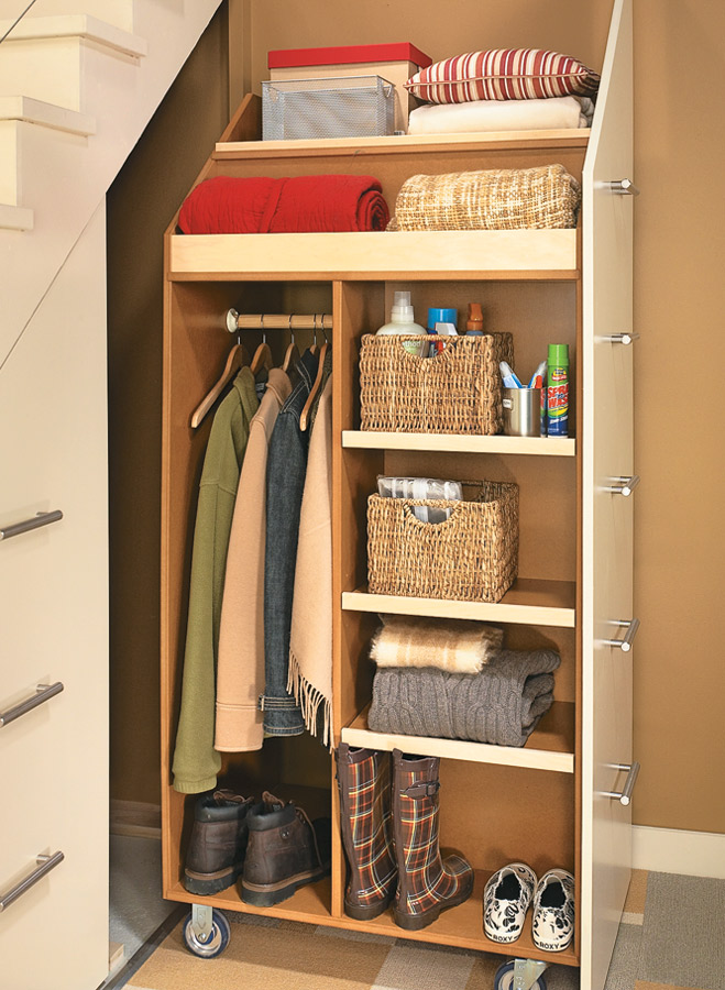 Under Stair Storage Cabinet Woodworking Project