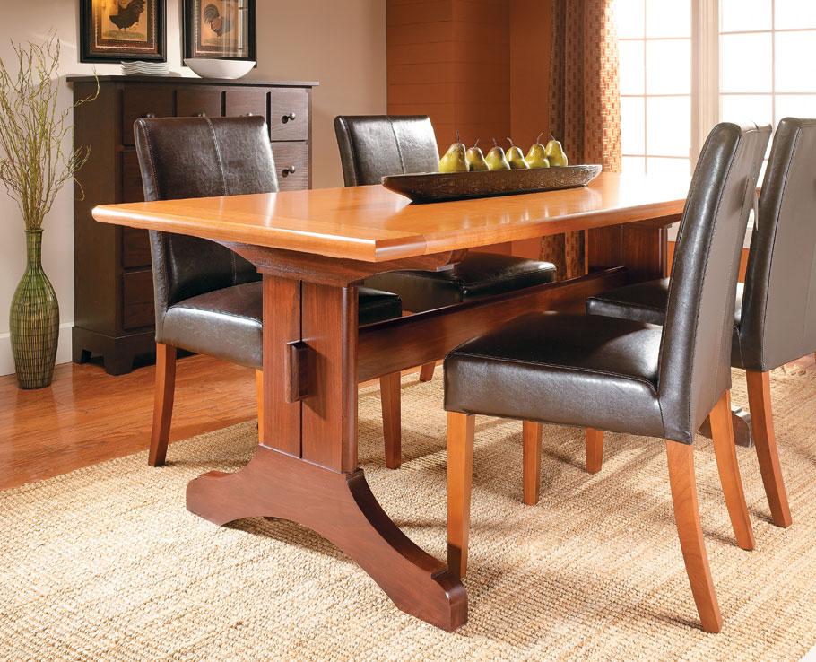 Slide-Out Trestle Table