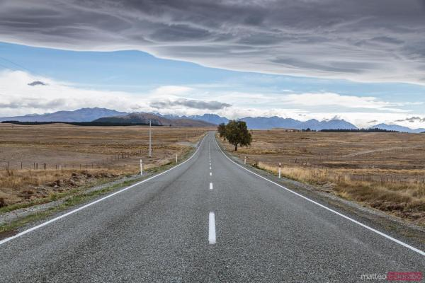 Matteo Colombo Travel Road Desolate Landscape In Bad Weather Zealand