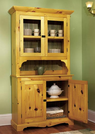 kitchen hutch plans kohler faucets parts heirloom pine woodworking plan from wood magazine