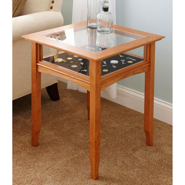glass top display table woodworking plan