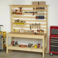Workbench with Wall Storage Woodworking Plan from WOOD ...