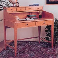Rolltop Writing Desk Woodworking Plan from WOOD Magazine