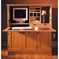 Home Office Hideaway Computer Desk Woodworking Plan from ...