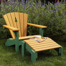 Adirondack Chair & Footstool Woodworking Plan Wood