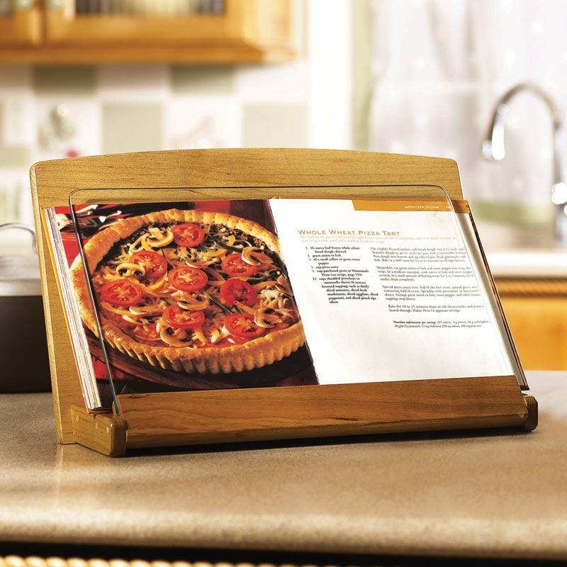 kitchen appliance garage kits backsplash in cookbook holder woodworking plan from wood magazine