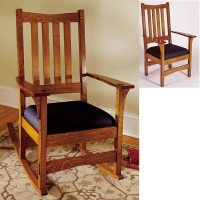 Two-In-One Arts and Crafts Chair/Rocker Woodworking Plan ...