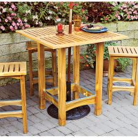 Bistro Patio Table and Stools Woodworking Plan from WOOD ...