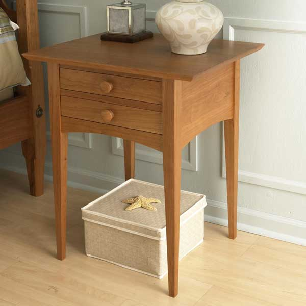 Pencil Post Bed Nightstand Woodworking Plan From WOOD Magazine