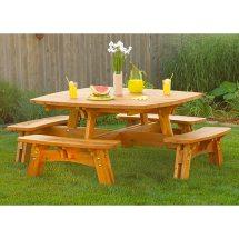 Fun-in-sun Picnic Table Woodworking Plan Wood