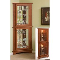 Corner Curio Cabinet Woodworking Plan from WOOD Magazine