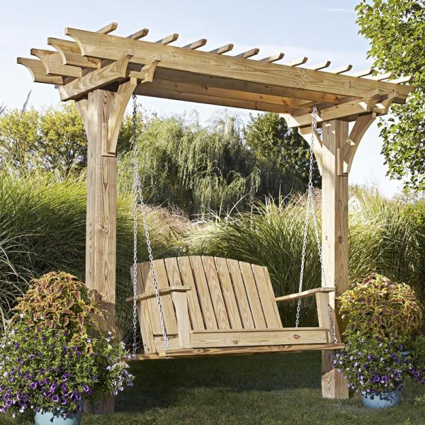 Easy Swinging Arbor With Swing Woodworking Plan Wood Magazine