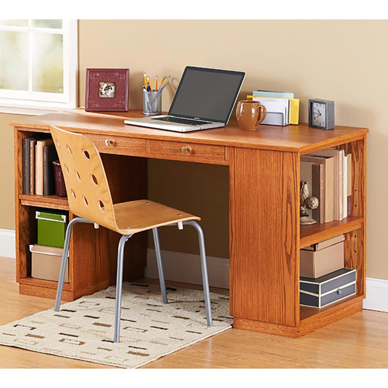 BuildtoSuit Study Desk Woodworking Plan from WOOD Magazine