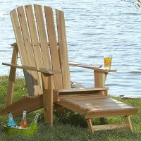 Adirondack Chair with Footrest Woodworking Plan from WOOD ...