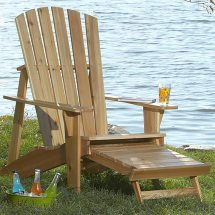 Adirondack Chair With Footrest Woodworking Plan Wood