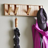 Hidden-Hook Coat Rack Woodworking Plan from WOOD Magazine