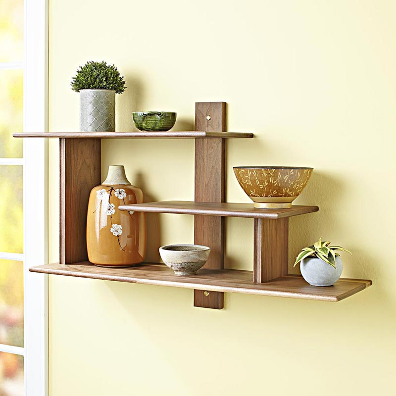 Modern Wall Shelf Woodworking Plan from WOOD Magazine