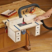 Bench-mounted Router Table Plan from WOOD Magazine