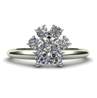Dog Paw Diamond Engagement Ring