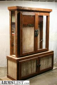 ARMSLIST - For Sale/Trade: Barnwood gun cabinet
