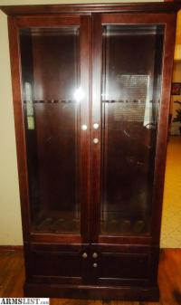 ARMSLIST - For Sale/Trade: 8 GUN WOOD DISPLAY CABINET MADE ...