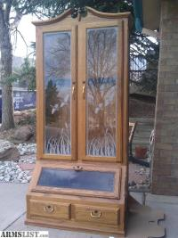 ARMSLIST - For Sale: Handmade Solid Oak Gun Cabinet