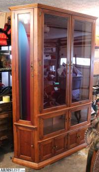 ARMSLIST - For Sale: Solid Large Hardwood Gun Cabinet ...