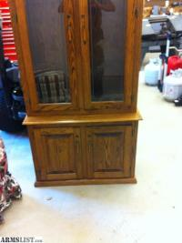 ARMSLIST - For Sale: 7 GUN OAK GUN CABINET