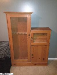 ARMSLIST - For Sale: Wooden Gun Cabinet