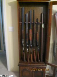 ARMSLIST - For Sale: (4) shotguns, (1) rifle, gun cabinet ...