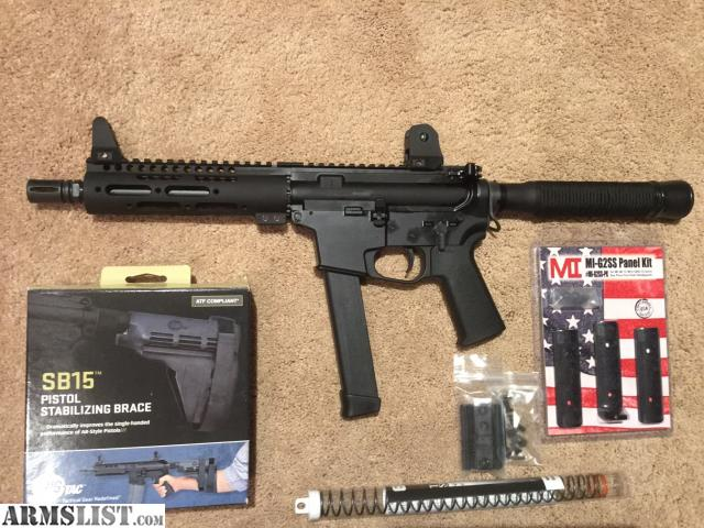 For Sale/Trade: Quarter Circle 10 9mm Ar-15 Pistol